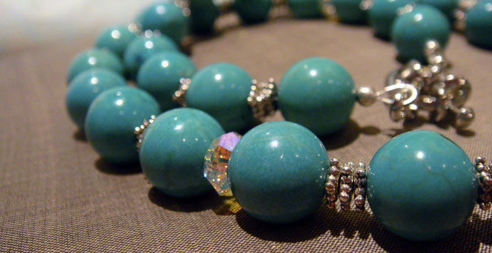 Handmade Turquoise Gemstone Necklace